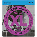 Electric Guitar Strings D'Addario EXL120 Nickel Wound .009-042