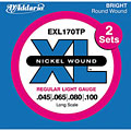 D'Addario EXL170TP Nickel Wound .045-100 « Electric Bass Strings