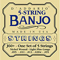 Strings D'Addario J60+ 5-String Banjo
