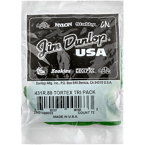 Dunlop Tortex Triangle 0,88mm (72Stck)