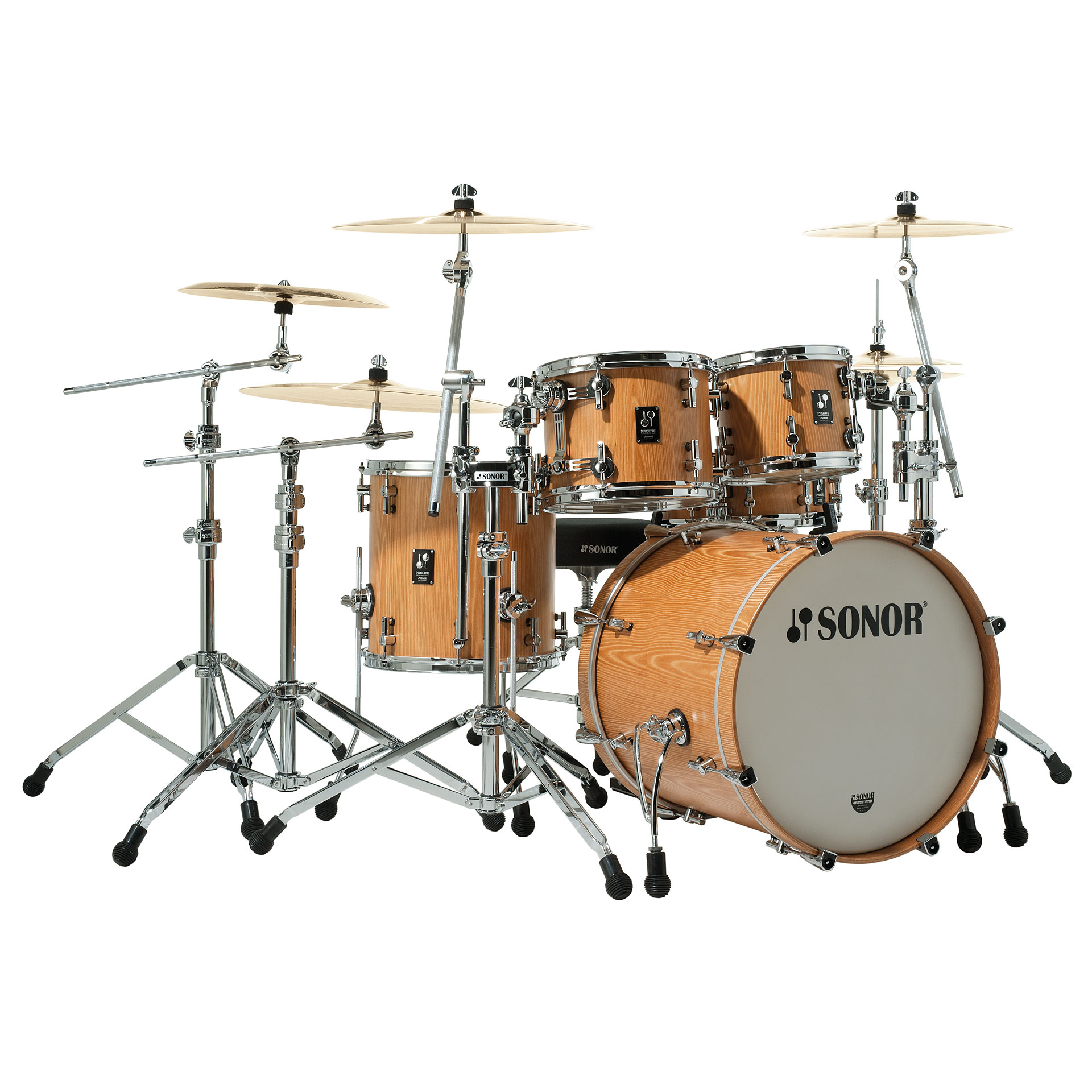 Sonor Prolite Pl 12 Studio1 Natural 171 Drum Kit