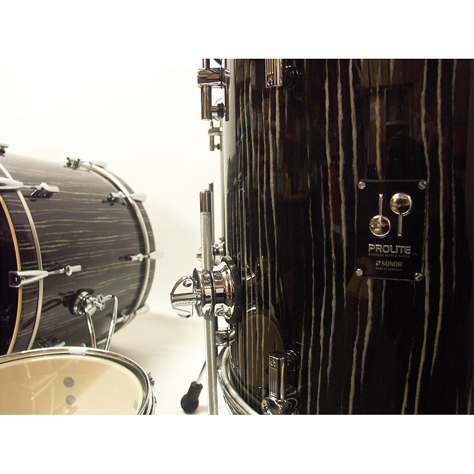Sonor ProLite PL 12 Stage 3 Ebony White Stripes u00ab Drum Kit