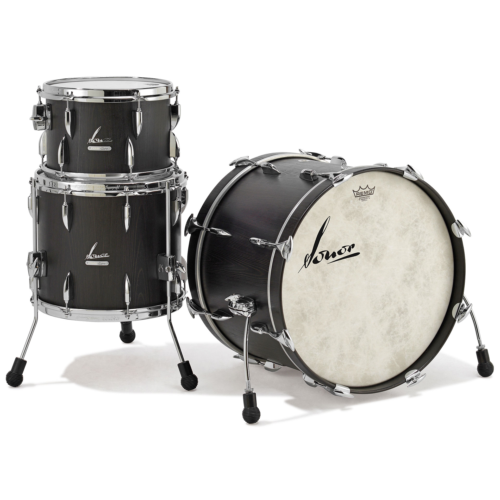 Sonor vintage series vt15 three20 vintage onyx drum kit for Classic house drums