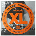Electric Guitar Strings D'Addario EXL110-3D Nickel Wound .010-046