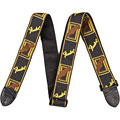 Guitar Strap Fender Monogram 2'' Black/Yellow/Brown