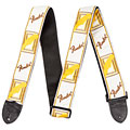 Guitar Strap Fender Monogram 2'' White/Brown/Yellow