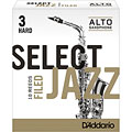 D'Addario Select Jazz Filed Alto Sax 3H « Reeds