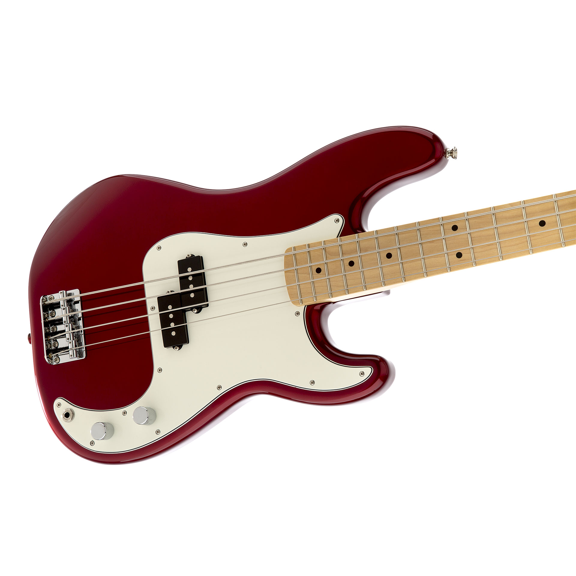 fender standard precision bass mn candy apple red electric bass guitar. Black Bedroom Furniture Sets. Home Design Ideas