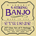 Strings D'Addario J57 5-String Banjo
