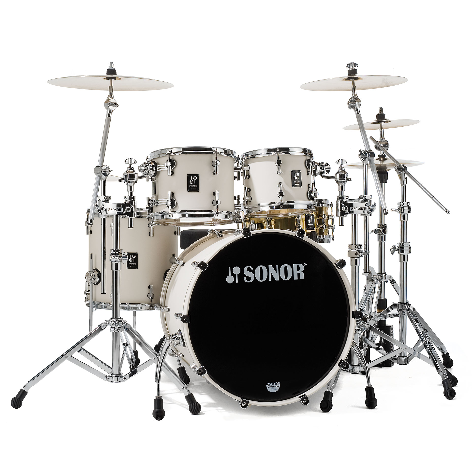 Sonor Prolite Pl 12 Studio1 Creme White 171 Drum Kit