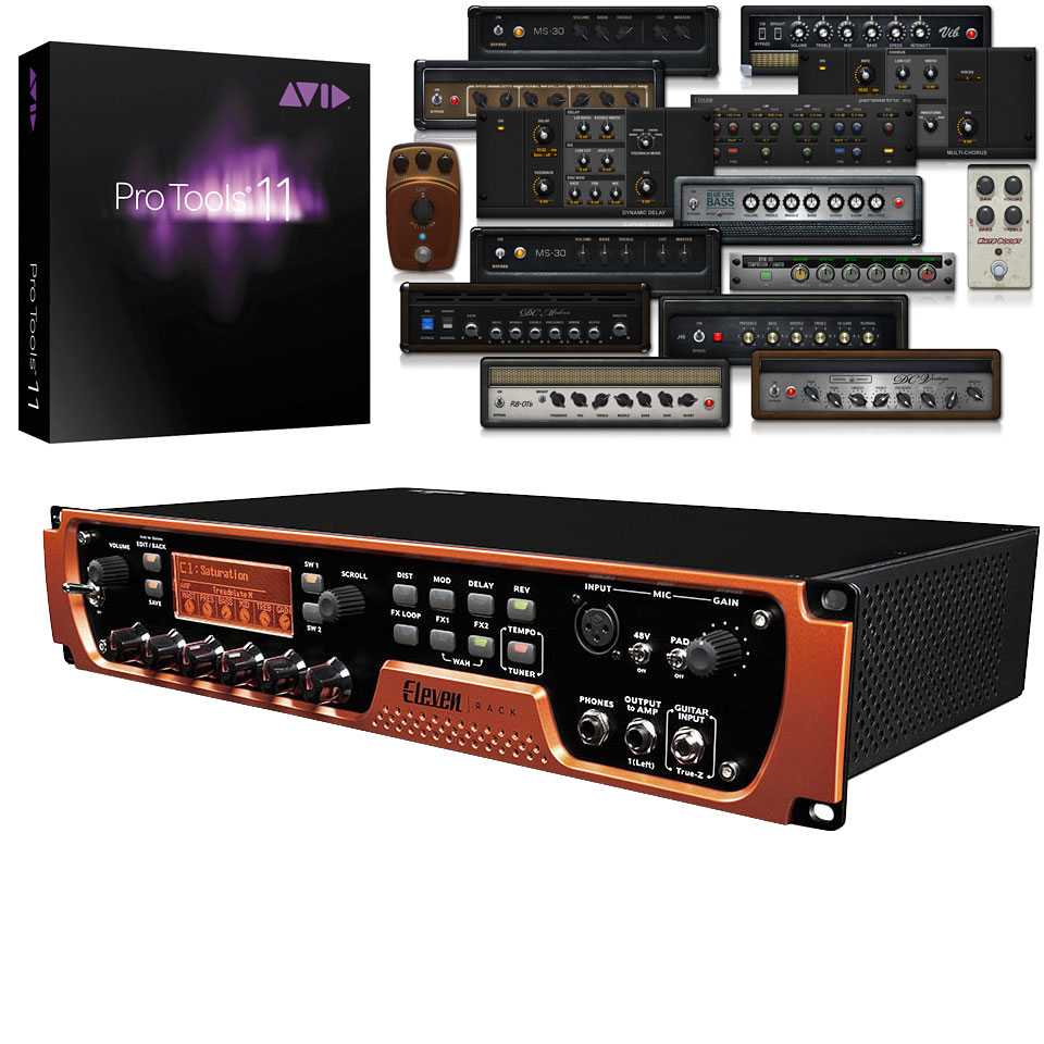 Guitar Multi Effects Avid Eleven Rack Pro Tools 1 Year