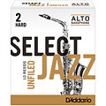 D'Addario Select Jazz Unfiled Alto Sax 2H « Reeds