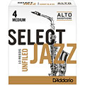 D'Addario Select Jazz Unfiled Alto Sax 4M « Reeds