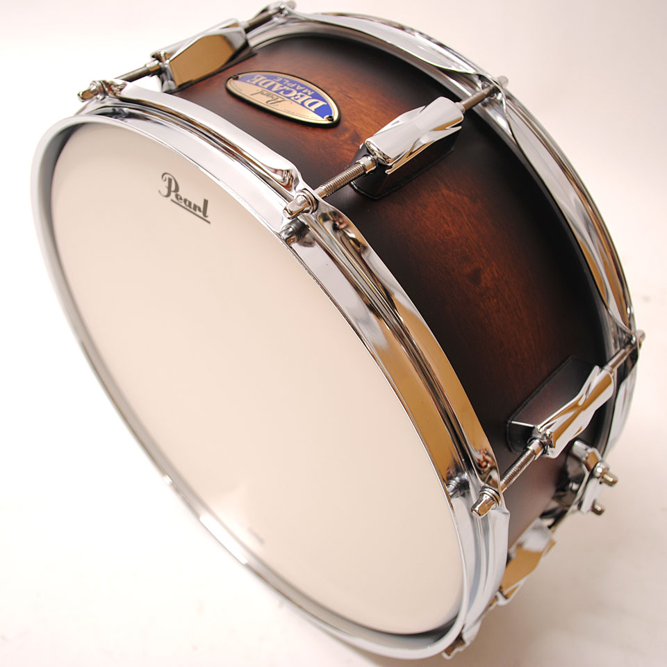 pearl decade maple 14 x 5 5 snare satin brown burst snare drum. Black Bedroom Furniture Sets. Home Design Ideas