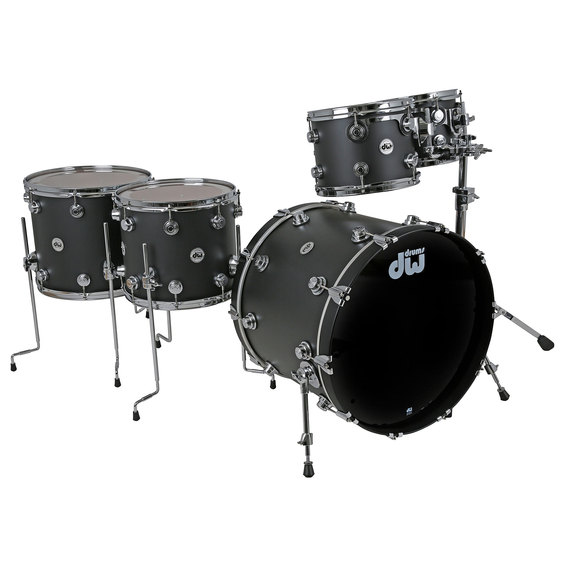 Dw Collector 180 S Laquer Custom Cherry Solid Black 171 Drum Kit