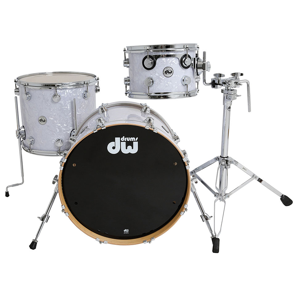 Dw collector s finish ply classic white marine drum kit for Classic house drums