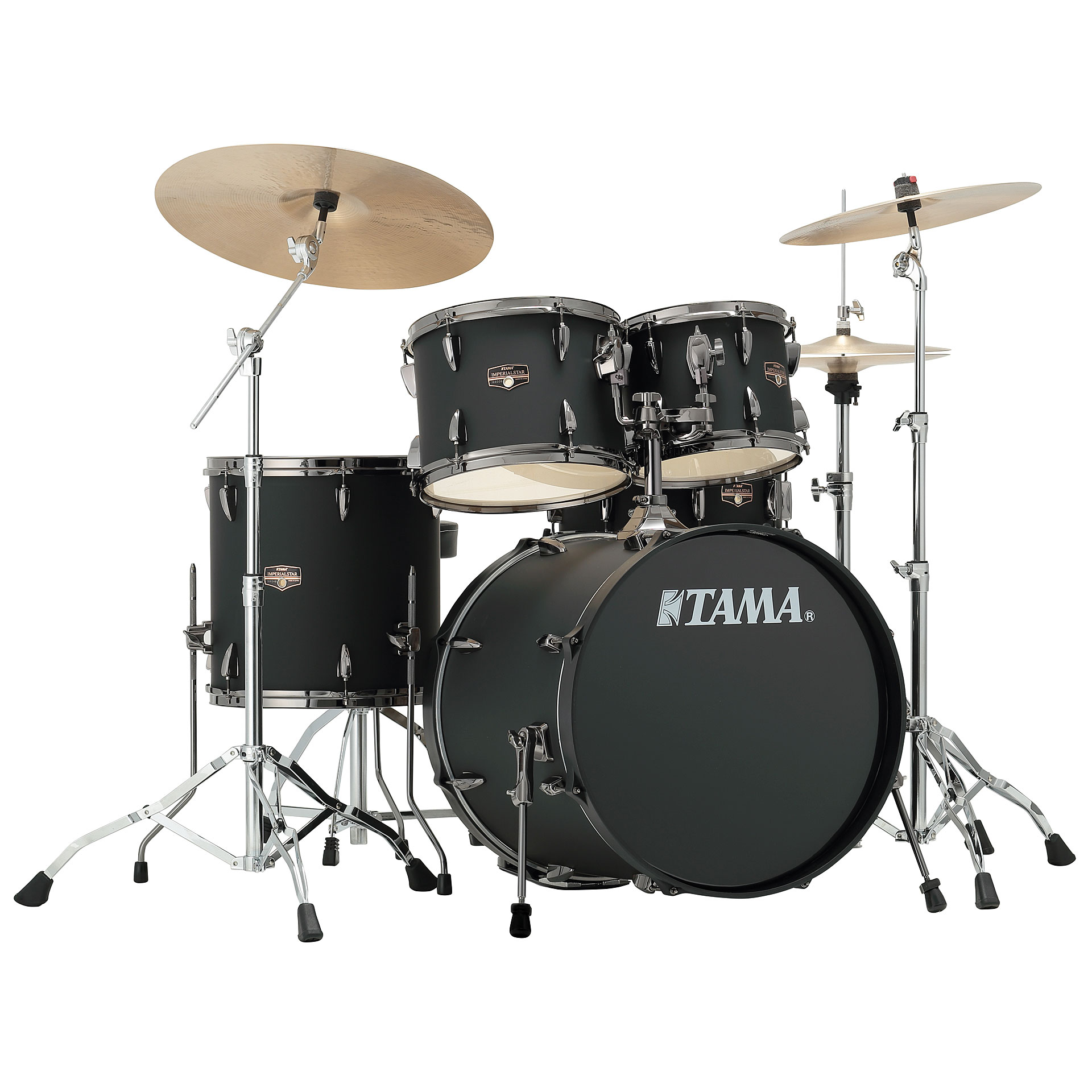 Tama Imperialstar 20 Quot Blacked Out Black 171 Drum Kit