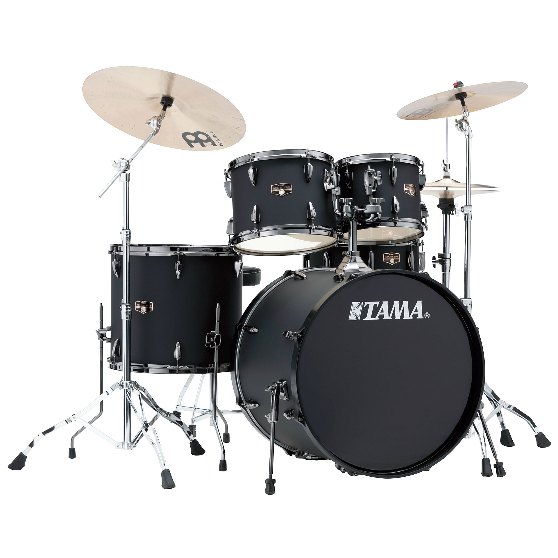 Tama Imperialstar 22 Quot Blacked Out Black 171 Drum Kit