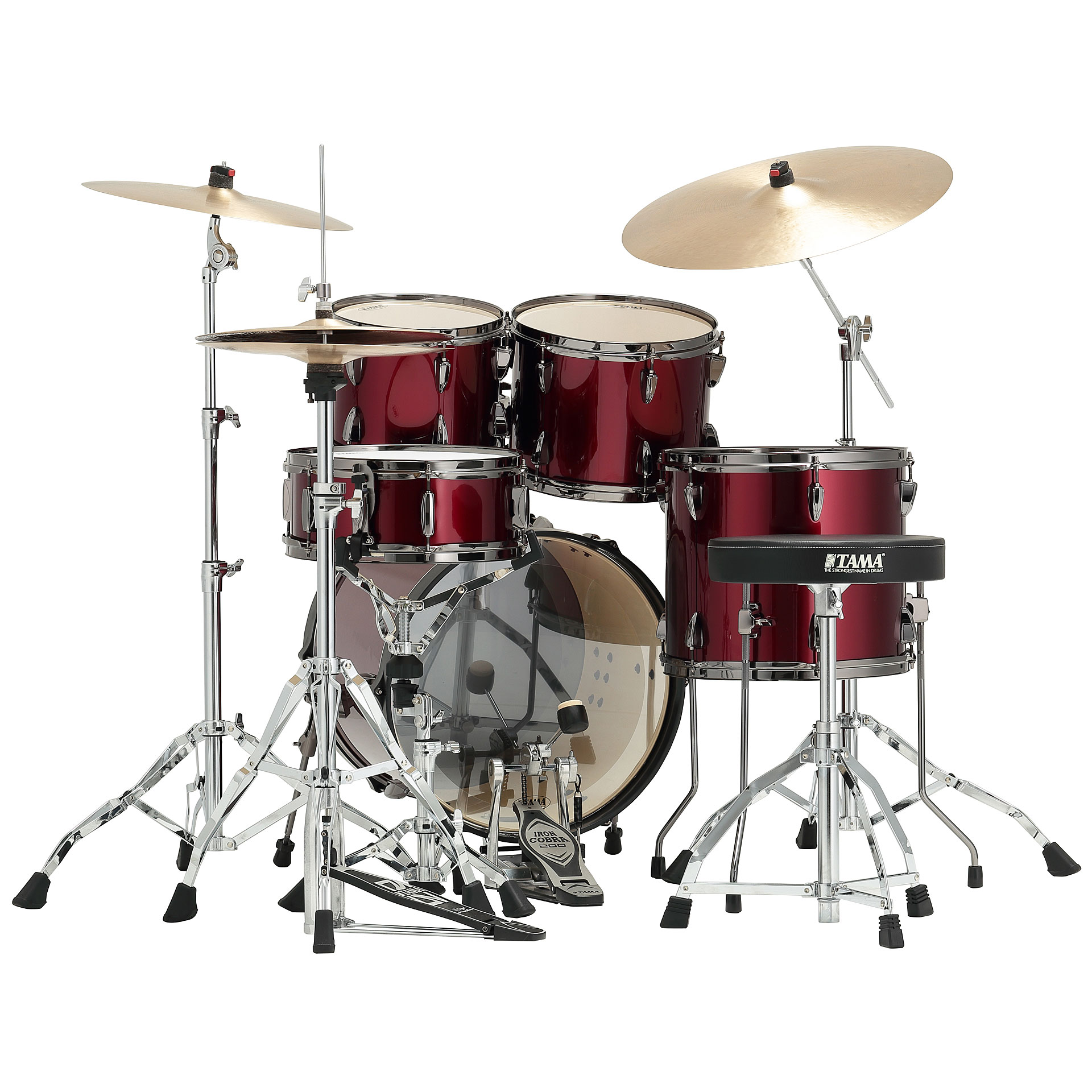 Tama imperialstar 18 vintage red drum kit for Classic house drums