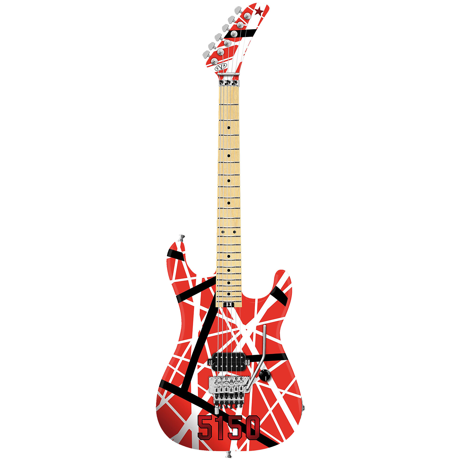 evh striped series 5150 r b w electric guitar. Black Bedroom Furniture Sets. Home Design Ideas