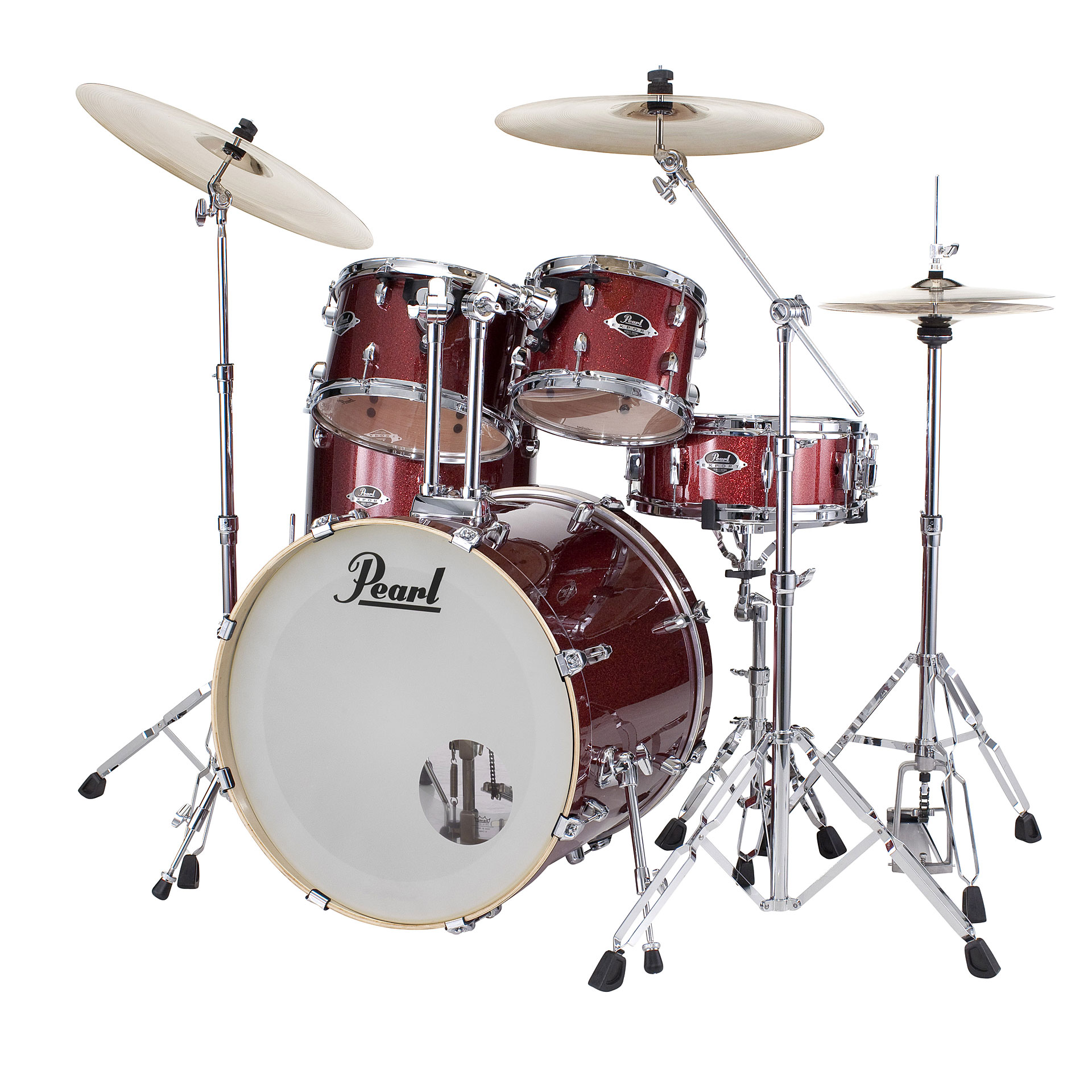 Pearl Export 20 Quot Black Cherry Glitter Complete Drumset