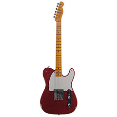 Fender Custom Shop 1955 Esquire Relic Faded Red Sparkle « Electric Guitar