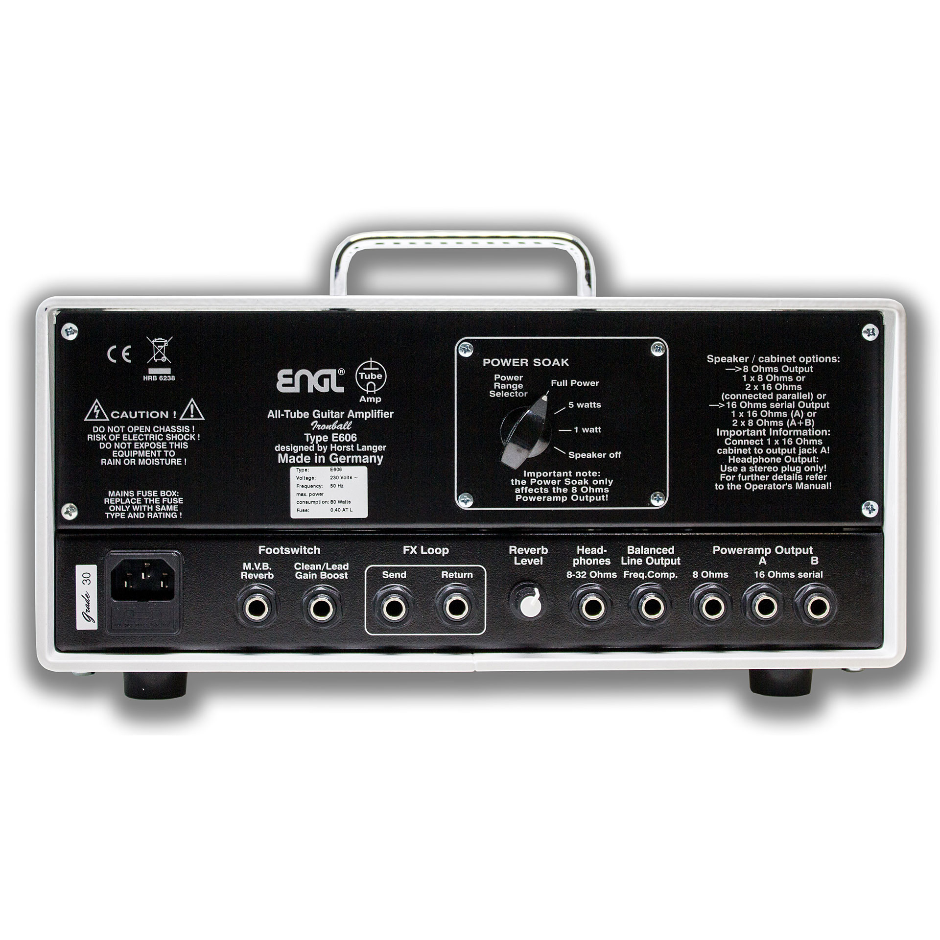 engl ironball e606 white edition guitar amp head. Black Bedroom Furniture Sets. Home Design Ideas