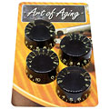 Crazyparts Art of Aging Aged Black 50s Speedknobs 4x « Pot Knob