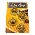 Crazyparts Art of Aging Tophats, Gold, Aged, Standard 4x « Pot Knob