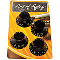 Crazyparts Art of Aging Tophats, Black, Aged, 4x « Pot Knob