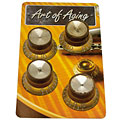 Crazyparts Art of Aging '60s Reflectorheads Gold, aged 4x « Pot Knob