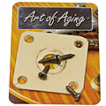 Crazyparts Art of Aging '50s Jackplate, Ivory, Rounded « Input-Jack Plate