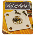 Crazyparts Art of Aging '50s Jackplate, Bone White, Rounded « Input-Jack Plate