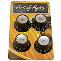 Crazyparts Art of Aging '60s Reflectorheads Black, Aged 4x « Pot Knob