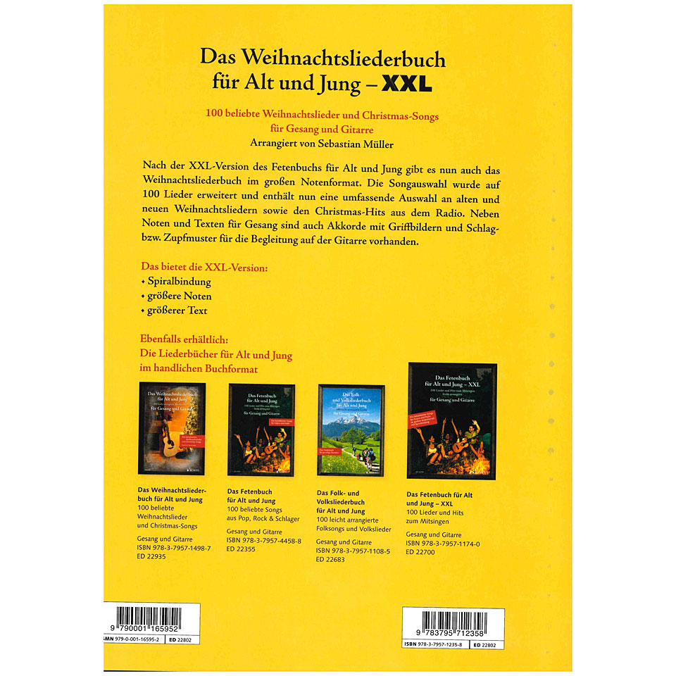 schott das weinhacntsliederbuch f r alt und jung xxl songbook. Black Bedroom Furniture Sets. Home Design Ideas