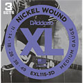 Electric Guitar Strings D'Addario EXL115-3D Nickel Wound .011-049